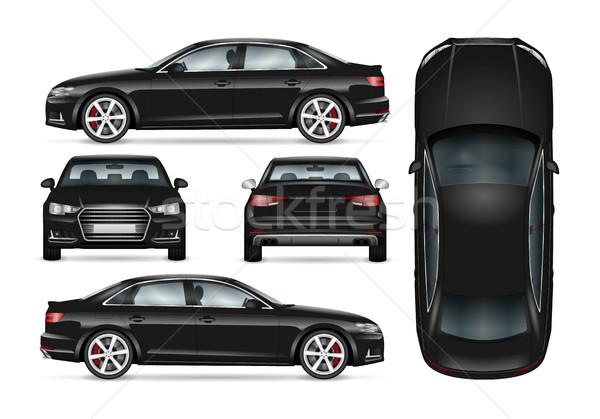вектора автомобилей иллюстрация черный шаблон брендинг Сток-фото © YuriSchmidt