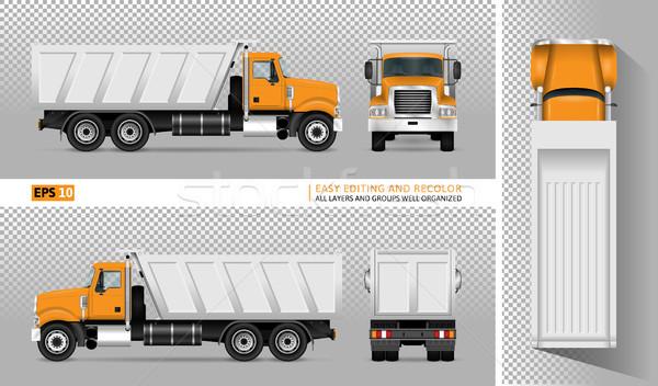Vector dump truck Stock photo © YuriSchmidt