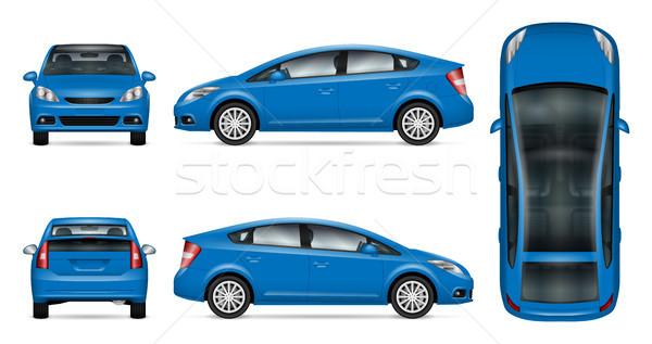 Azul carro vetor para cima publicidade Foto stock © YuriSchmidt
