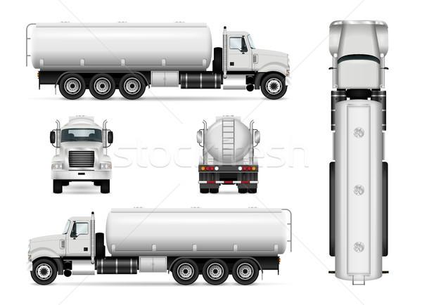 Samochodu szablon ciężarówka wektora branding reklamy Zdjęcia stock © YuriSchmidt