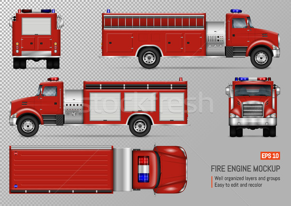 Fire truck vector template vector illustration yurischmidt add to lightbox download comp maxwellsz