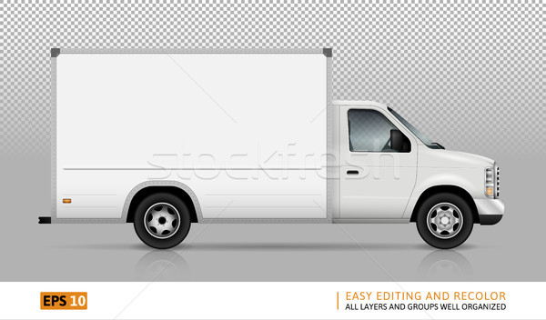 Van vector illustration. Stock photo © YuriSchmidt