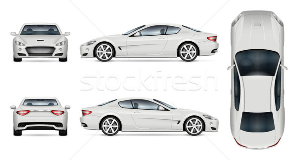 White sports car vector template Stock photo © YuriSchmidt