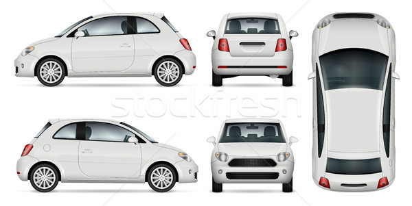Mini car vector illustration. Stock photo © YuriSchmidt