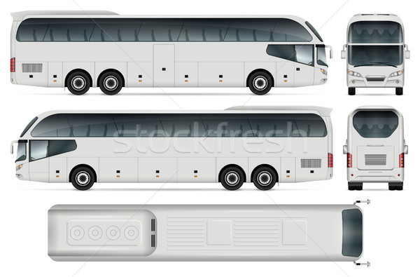 Vector Travel Bus Stock photo © YuriSchmidt