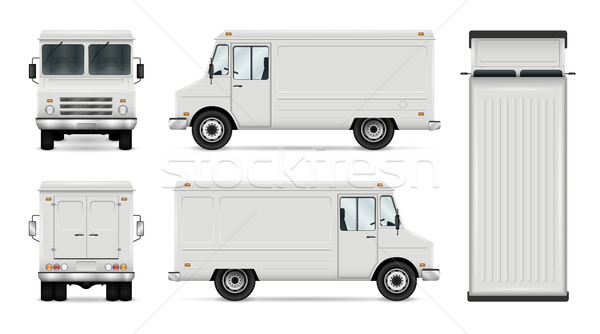Food Truck Vector Template Stock photo © YuriSchmidt