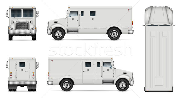 Ciężarówka wektora odizolowany szablon zbroja Zdjęcia stock © YuriSchmidt