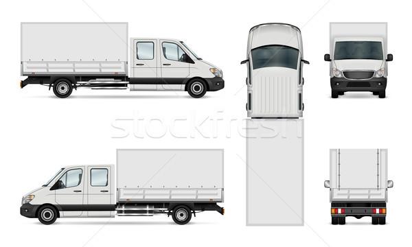 Van vector illustration Stock photo © YuriSchmidt