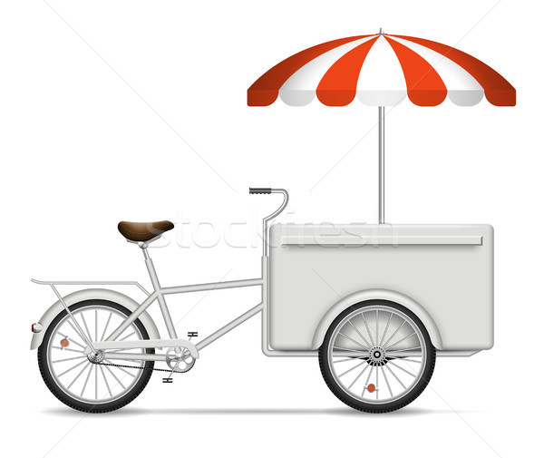 Realistic food bike on white background Stock photo © YuriSchmidt