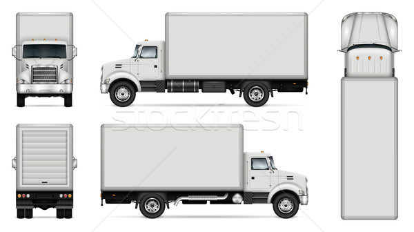 Box truck vector mockup Stock photo © YuriSchmidt