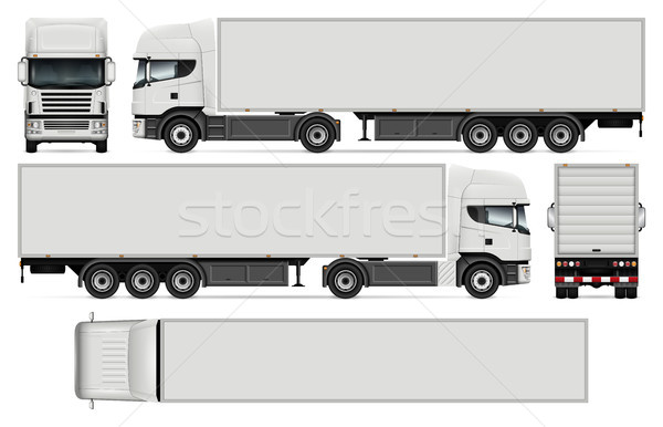 Semi-trailer truck vector illustration Stock photo © YuriSchmidt