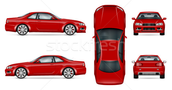 Red sports car vector illustration Stock photo © YuriSchmidt