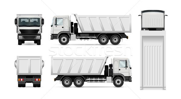 Wektora ciężarówka odizolowany biały ciężarówka Zdjęcia stock © YuriSchmidt