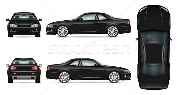 Sport car vector template Stock photo © YuriSchmidt