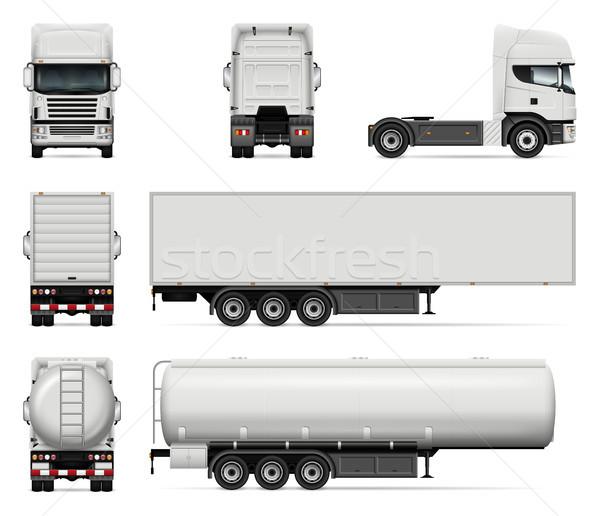 セット ベクトル トラック トラック 孤立した ストックフォト © YuriSchmidt