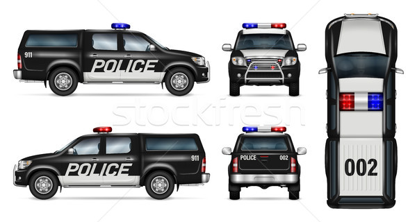 Police pickup car vector mockup Stock photo © YuriSchmidt
