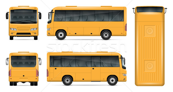 Yellow bus vector mockup Stock photo © YuriSchmidt