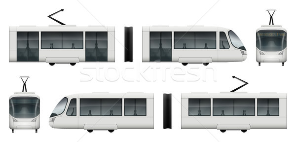 Stock photo: Tram train vector mock-up