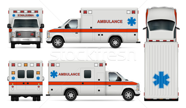 Ambulance car vector mockup Stock photo © YuriSchmidt