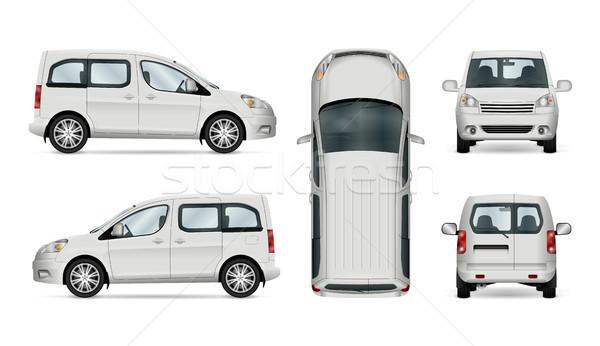 Biały usługi samochodu szablon odizolowany branding Zdjęcia stock © YuriSchmidt