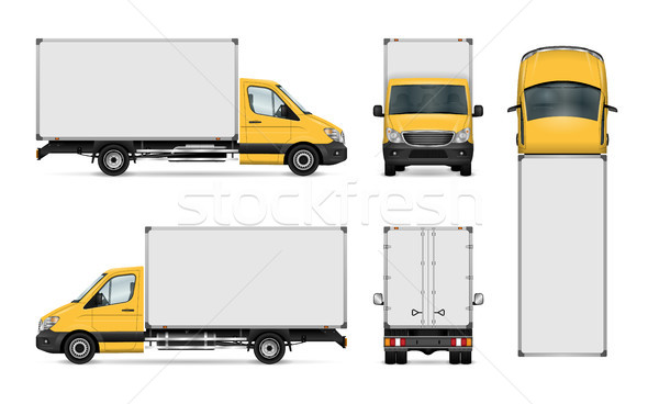 Kisteherautó sablon furgon vektor autó branding Stock fotó © YuriSchmidt