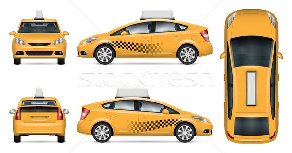 Taxi car vector mock-up Stock photo © YuriSchmidt