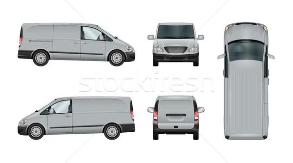Zdjęcia stock: Van · wektora · szablon · odizolowany · stanie · samochodu