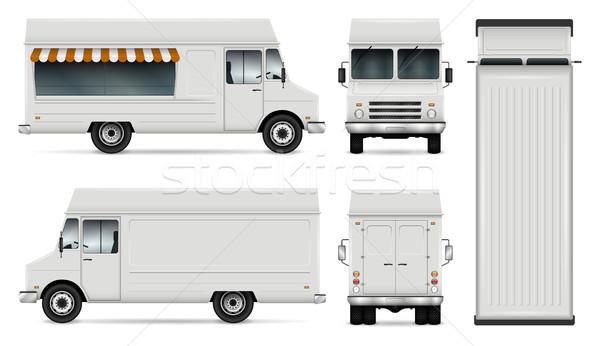 Comida caminhão vetor modelo carro marca Foto stock © YuriSchmidt
