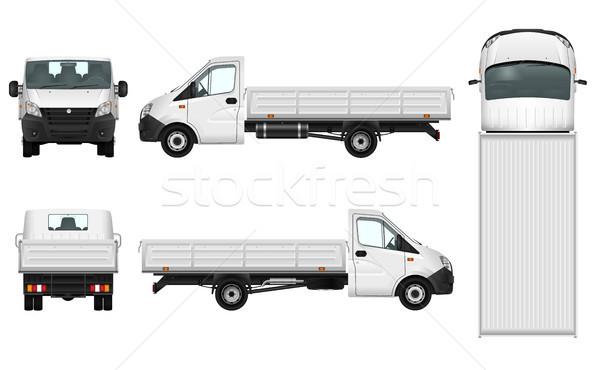 ストックフォト: トラック · 貨物 · 車 · テンプレート · 配信 · 車両