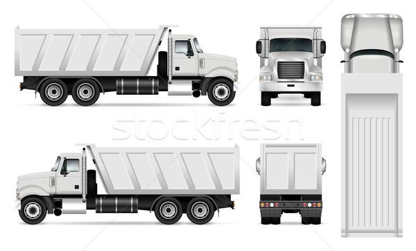 Foto stock: Vetor · caminhão · modelo · carro · marca · publicidade