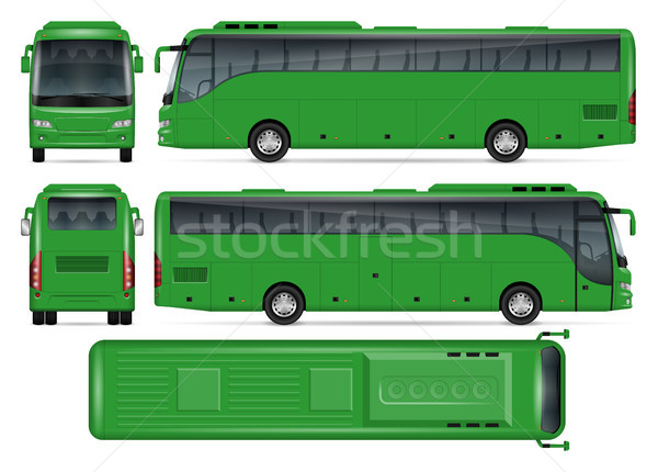 Green bus vector mockup Stock photo © YuriSchmidt