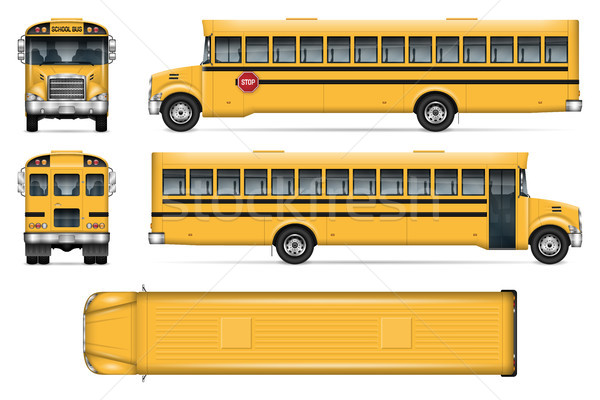 School bus vector mockup Stock photo © YuriSchmidt
