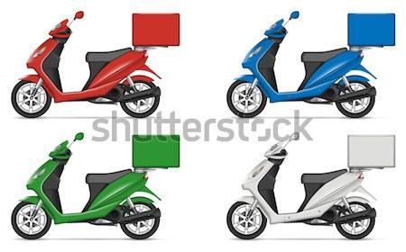 Realistic scooters vector illustration Stock photo © YuriSchmidt