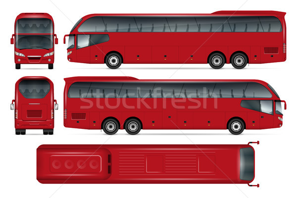Red bus vector mockup Stock photo © YuriSchmidt