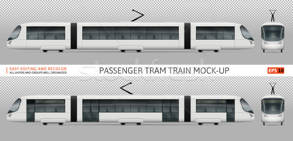 Tram train vector mock-up Stock photo © YuriSchmidt