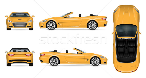 Cabriolet car vector mockup Stock photo © YuriSchmidt