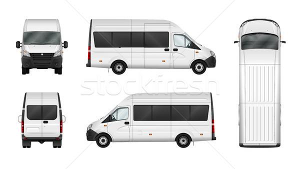 Teher furgon fehér város kereskedelmi mikrobusz Stock fotó © YuriSchmidt