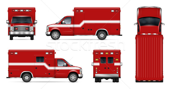 Realistic fire engine vector illustration Stock photo © YuriSchmidt