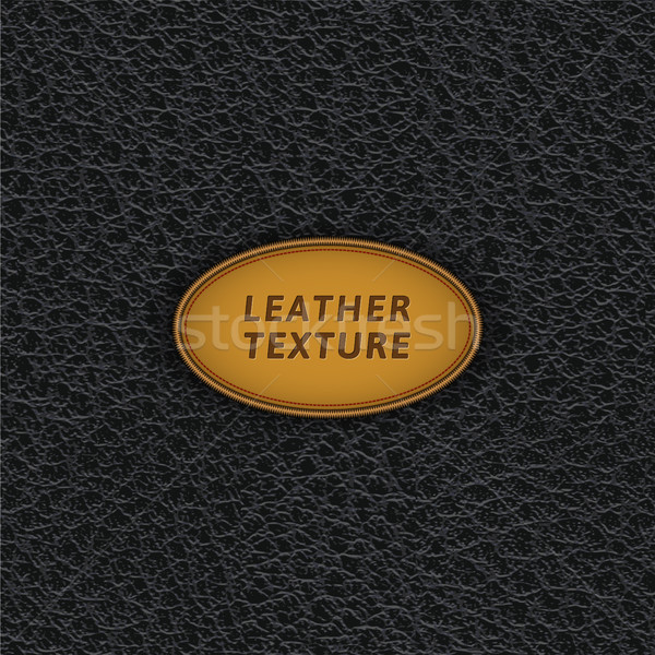 Black leather seamless pattern. Stock photo © YuriSchmidt