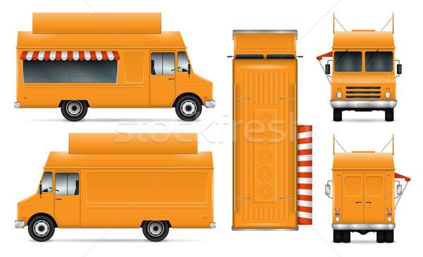 żywności ciężarówka wektora samochodu branding Zdjęcia stock © YuriSchmidt