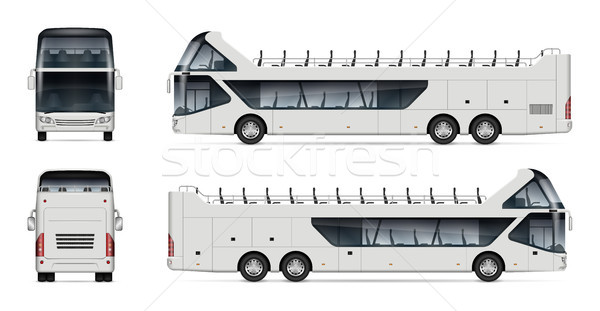 Realistic travel bus illustration Stock photo © YuriSchmidt