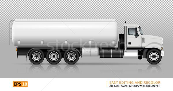 Tanker truck vector illustration Stock photo © YuriSchmidt