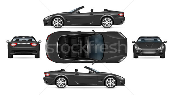 Realistic cabriolet car Stock photo © YuriSchmidt