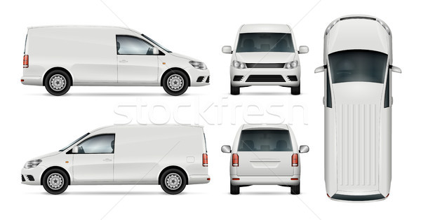 White van vector template. Stock photo © YuriSchmidt