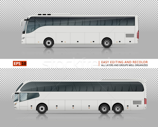 Tour buses vector illustration Stock photo © YuriSchmidt
