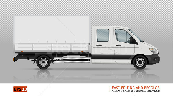 Delivery van template Stock photo © YuriSchmidt