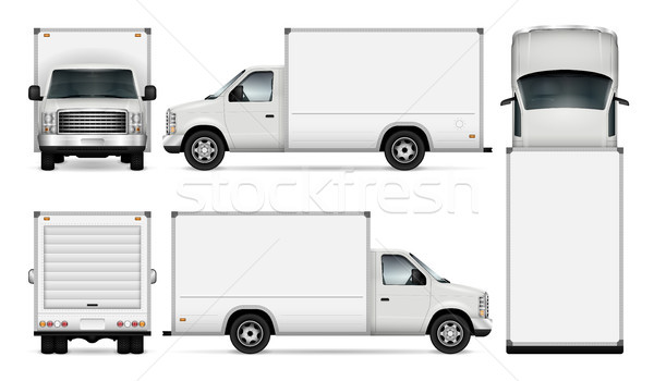 Cargo van vector illustration. Stock photo © YuriSchmidt