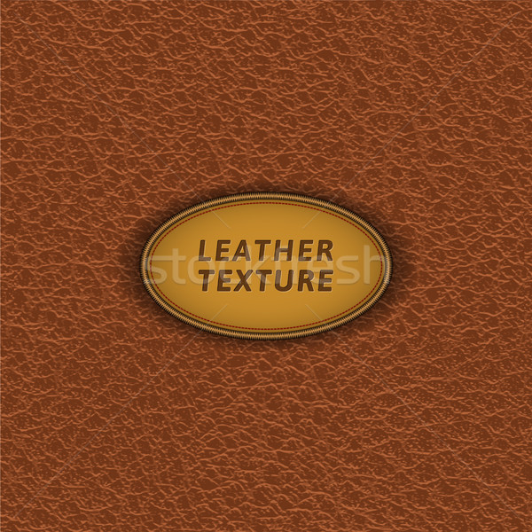 Brown leather seamless pattern. Stock photo © YuriSchmidt