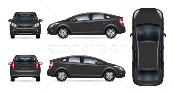 Cinza carro vetor modelo isolado Foto stock © YuriSchmidt