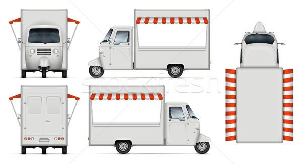 Gerçekçi gıda kamyon vektör yalıtılmış Stok fotoğraf © YuriSchmidt